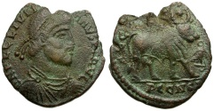 Ancient Coins - Julian II The Apostate Æ Double Maiorina / Bull