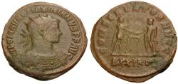 Ancient Coins - Maximianus Æ Post-Reform Radiate / Name of Hercules