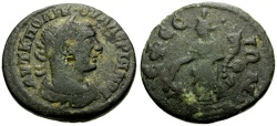 Ancient Coins - Valerian I, Ionia Ephesus Æ20 / Tyche