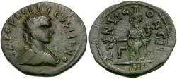 Ancient Coins - Gallienus (AD 253-268). Pisidia. Antioch Æ23 / Genius of Colony