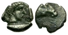 Ancient Coins - Caria. Uncertain AR Hemiobol / Ram's Head