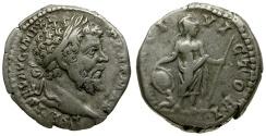 Ancient Coins - Septimius Severus AR Denarius / Mars
