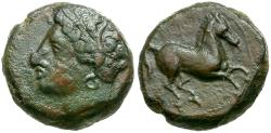 Ancient Coins - Sicily. Carthaginians in Sicily. Siculo-Punic Æ15 / Horse
