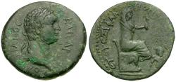Ancient Coins - Domitian (AD 81-96). Cilicia. Flaviopolis Æ23 / Tyche