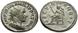 Ancient Coins - VF/VF Philip I AR Antoninianus / Securitas
