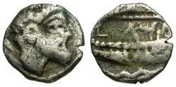 Ancient Coins - Phoenicia. Arados AR 1/12 Stater / Marine Deity