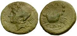 Ancient Coins - Italy. Bruttium. The Bretti Æ Quarter Unit / Marine Goddess