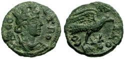 Ancient Coins - VF/VF Troas Alexandria Æ20 / Tyche / Eagle