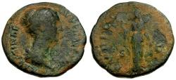 Ancient Coins - Faustina II Æ Dupondius / Pudicitia