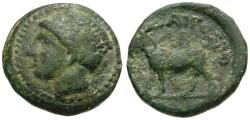 Ancient Coins - Thrace. Aigospotamoi Æ16 / Goat