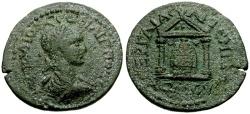 Ancient Coins - Philip II, Pamphylia Perga Æ28 / Ex CNA auction