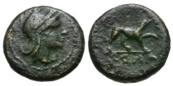 Ancient Coins - 241-222 BC - Roman Republic. Anonymous AE Half Litra / Dog