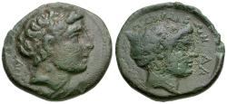 Ancient Coins - Thessaly. Perrhaiboi Æ18 / Nymph
