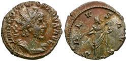 Ancient Coins - Victorinus (AD 269-271) Silvered Æ Antoninianus / Salus