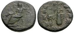 Ancient Coins - Cilicia.  Tarsos Æ17 / Zeus and Club
