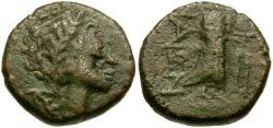 Ancient Coins - Sicily. Katane Æ Hexas / Isis