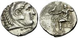 Ancient Coins - Kings of Macedon.  Alexander III The Great. Marathus mint AR Tetradrachm / Palm Tree