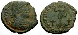 Ancient Coins - aVF/aVF Valens Æ3 / Victory and Crosses