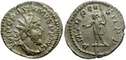 Ancient Coins - Postumus AR Antoninianus / Emperor in military dress