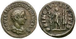 Ancient Coins - Diadumenian Caesar (AD 217-218) AR Denarius / Standards