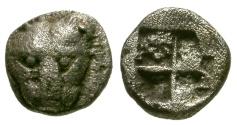 Ancient Coins - VF/VF Cimmerian Bosporus, Pantikapaion AR Hemiobol / Lion's head
