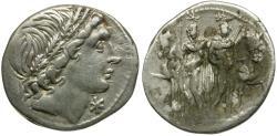 Ancient Coins - 109-108 BC - Roman Republic L. Memmius AR Denarius / Dioscuri