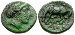 Ancient Coins - Thessaly. Larissa Æ13 / Horse