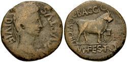 Ancient Coins - Augustus (27 BC-AD 14). Spain. Celsa. L. Baggius and Mn. Flavius Festus, duoviri Æ AS