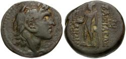 Ancient Coins - Seleukid Kings. Alexander I Balas Æ19 / Apollo