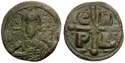 Ancient Coins - Byzantine Empire. Romanus IV Diogenes Æ Follis / Cross
