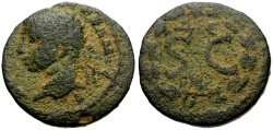 Ancient Coins - Elagabalus, Syria, Seleucia and Pieria, Antioch Æ20 / Wreath