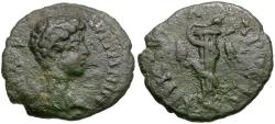 Ancient Coins - Caracalla, as Caesar (AD 196-198). Moesia Inferior. Nicopolis ad Istrum Æ17 / Serpent