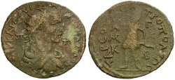 Ancient Coins - Trebonianus Gallus. Cilicia. Tarsos Æ31 / Artemis