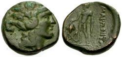 Ancient Coins - VF/VF Thrace, Maroneia Æ17 / Dionysos