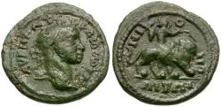 Ancient Coins - Gordian III (AD 238-244). Moesia Inferior. Nicopolis ad Istrum Æ16 / Eros riding Lion