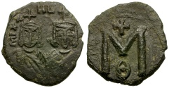 Ancient Coins - Byzantine Empire. Michael II the Amorian with Theophilus Æ Follis