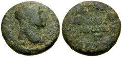Ancient Coins - Trajan, Syria, Cyrrhestica Beroea Æ25 / Wreath