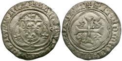 World Coins - France. Charles VII le Victorieux (1422-1461) Toulouse. BI Blanc a la Couronne