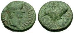 Ancient Coins - aVF/aVF Augustus, Macedon, Amphipolis Æ20 / Europa riding Bull