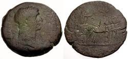 Ancient Coins - gF/gF Trajan, Egypt Alexandria Æ Drachm / Emperor driving Quadriga