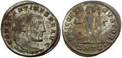 Ancient Coins - Constantine I the Great Æ Silvered Follis / Jupiter