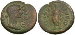 Ancient Coins - Caria. Orthosia. Pseudo-autonomous Æ19 / Senate & Zeus