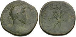 Ancient Coins - Lucius Verus (AD 161-169) Æ Sestertius / Mars
