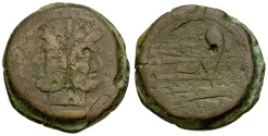 Ancient Coins - 148 BC - Roman Republic. Q. Marcius Libo Æ AS / MARC