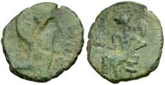Ancient Coins - Spain. Iberia. Irippo. Augustus Æ22 / Woman Seated