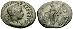 Ancient Coins - Severus Alexander Eastern mint AR Denarius / Aequitas