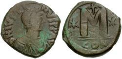 Ancient Coins - *Sear 62* Byzantine Empire. Justin I (AD 518-527) Æ Follis
