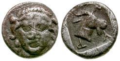 Ancient Coins - Aeolis. Myrina AR Obol / Goat
