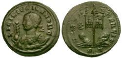 Ancient Coins - Licinius II as Caesar Æ3 / Chi Rho