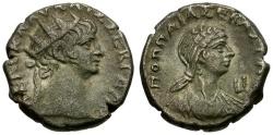 Ancient Coins - Nero. Egypt. Alexandria Billon Tetradrachm / Poppaea